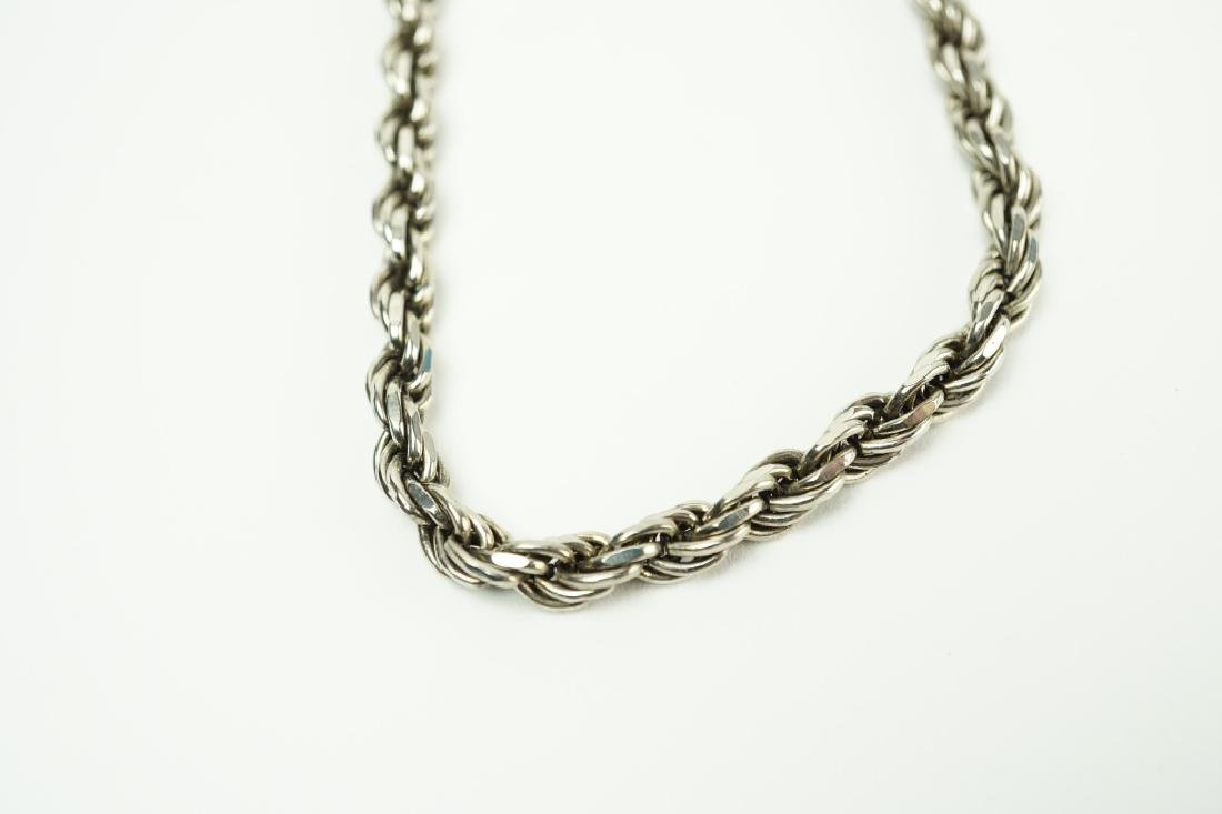 STERLING SILVER ROPE NECKLACE - 3