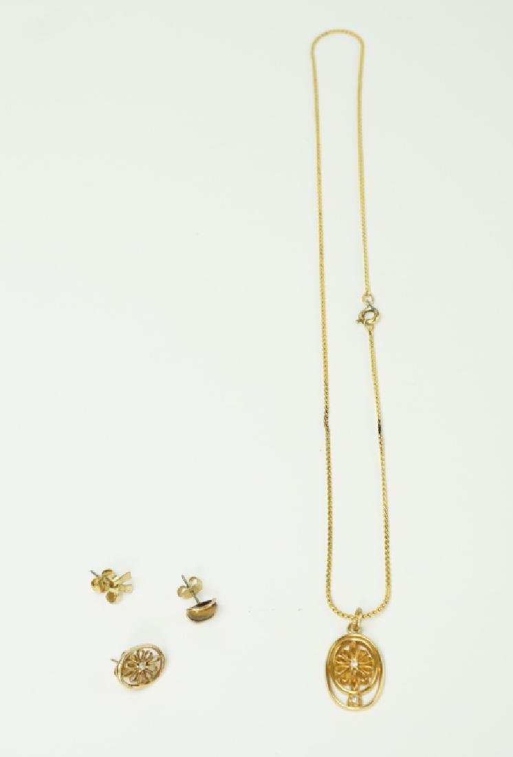 4pc ASSORTED 10K YELLOW GOLD JEWELRY