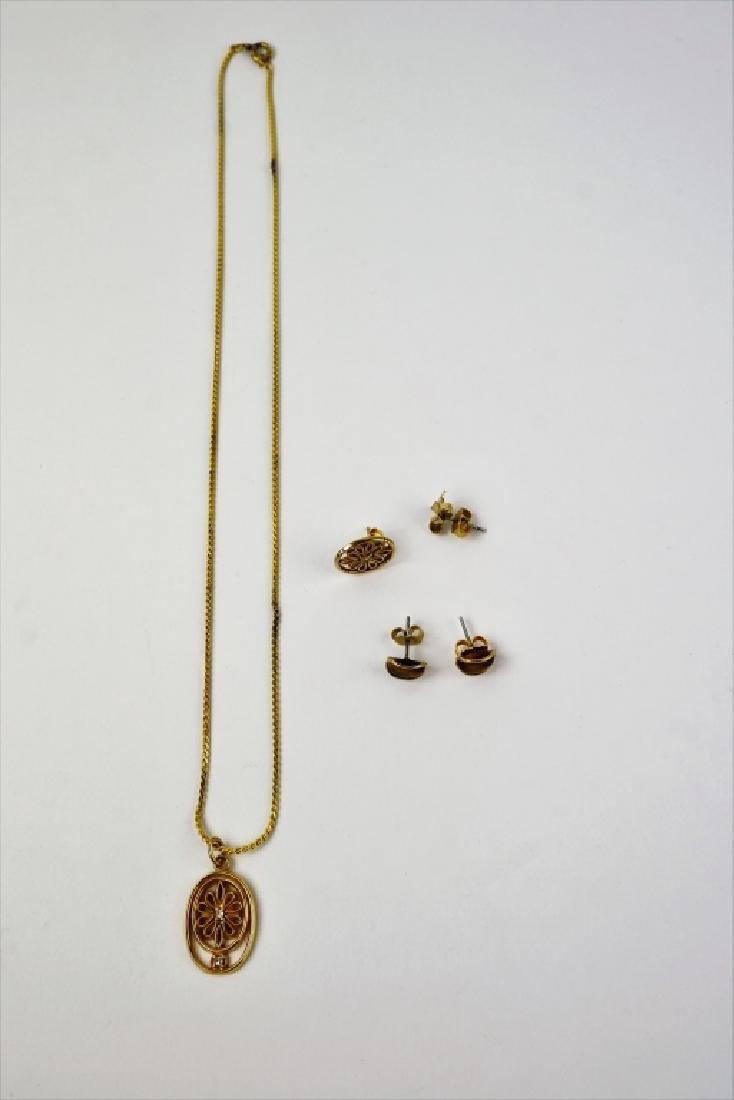 4pc ASSORTED 10K YELLOW GOLD JEWELRY - 2