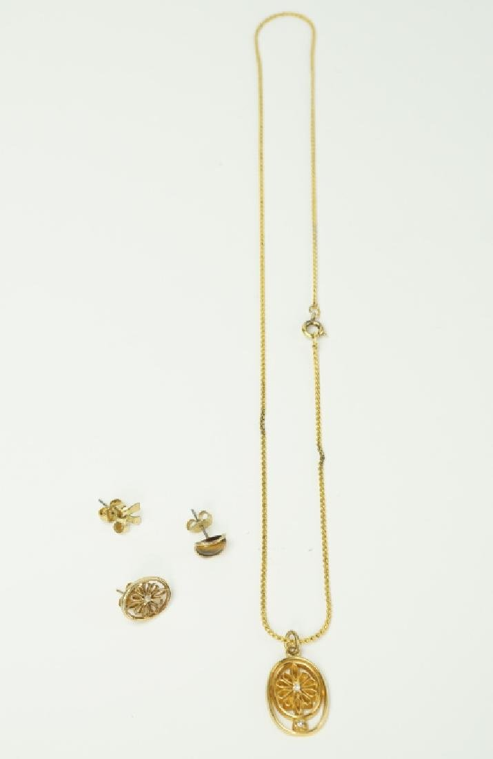 4pc ASSORTED 10K YELLOW GOLD JEWELRY - 4