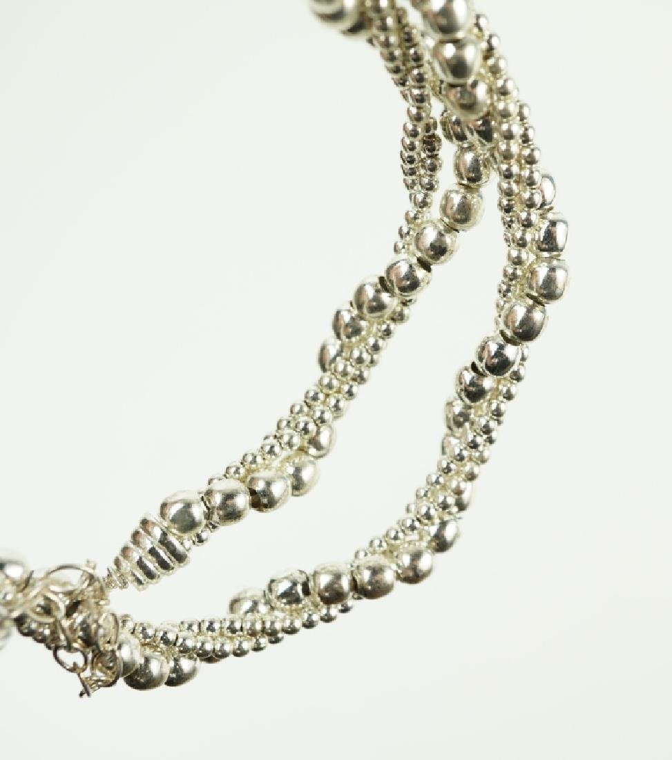 STERLING SILVER BEADED NECKLACE - 2