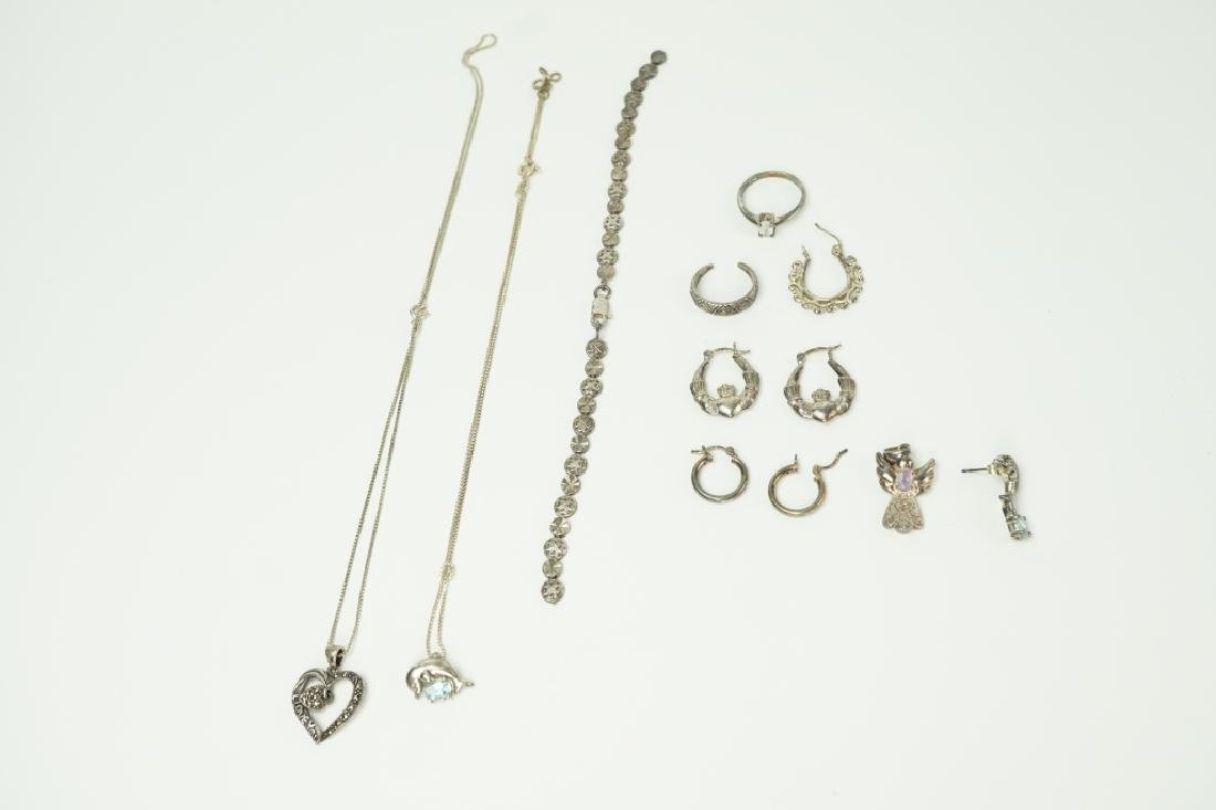 10pcs ASSORTED STERLING SILVER JEWELRY - 2