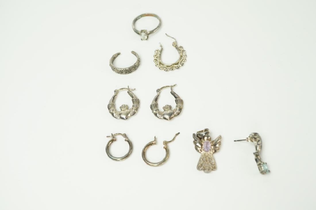 10pcs ASSORTED STERLING SILVER JEWELRY - 3