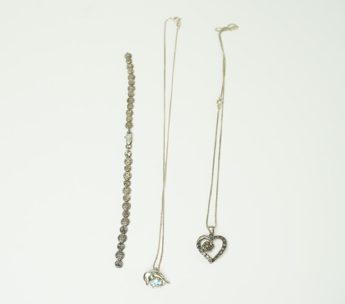 10pcs ASSORTED STERLING SILVER JEWELRY - 4