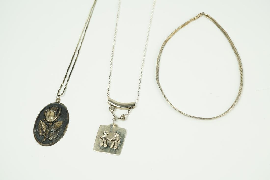 (3) ASSORTED NECKLACES INCLUDING STERLING