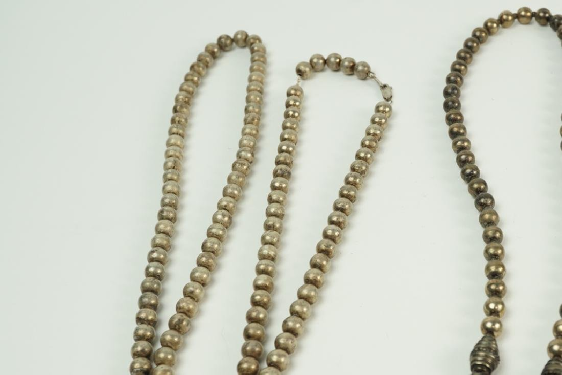 (2) STERLING SILVER BEADED NECKLACES - 2