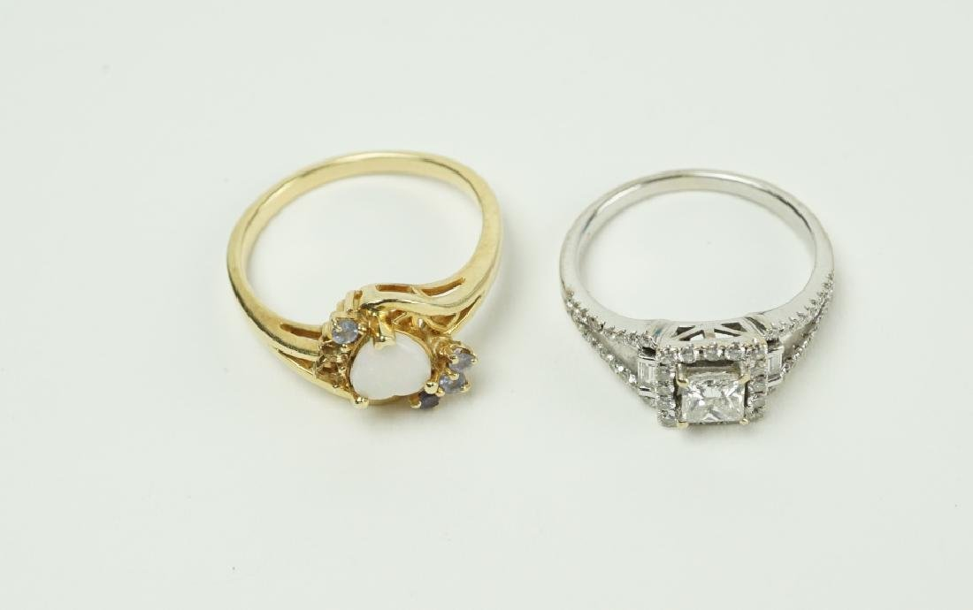 (2) ASSORTED GOLD RINGS