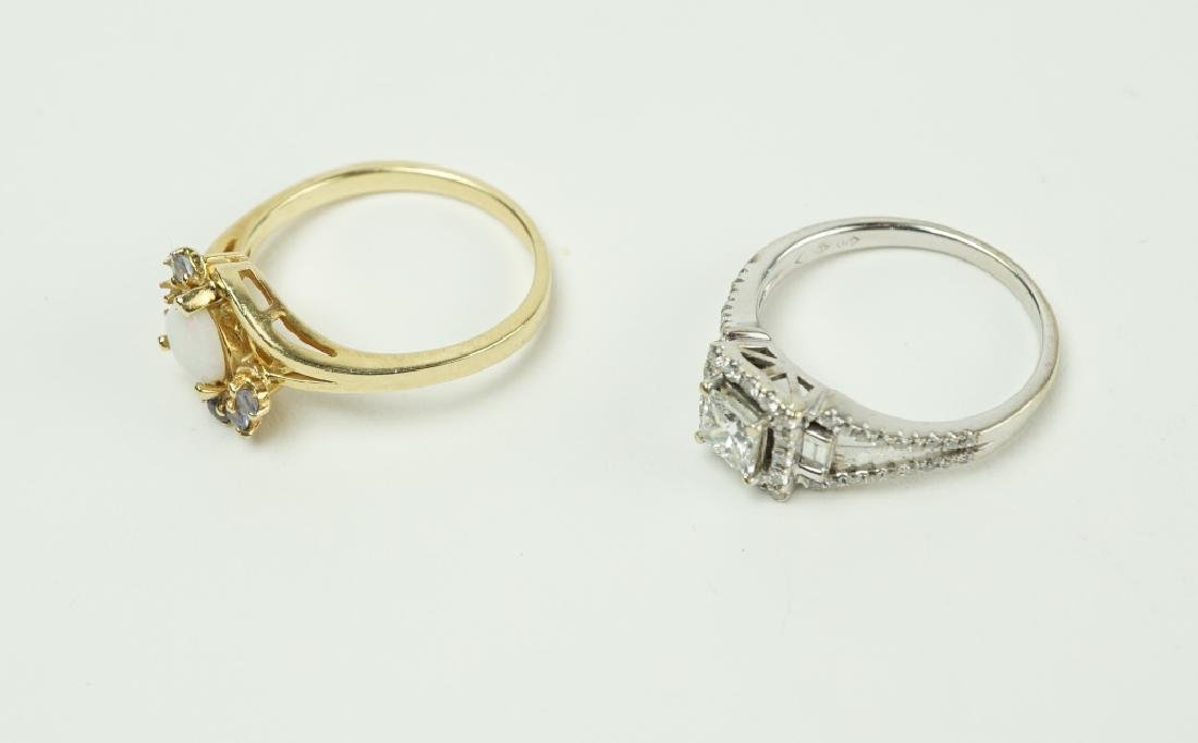 (2) ASSORTED GOLD RINGS - 2