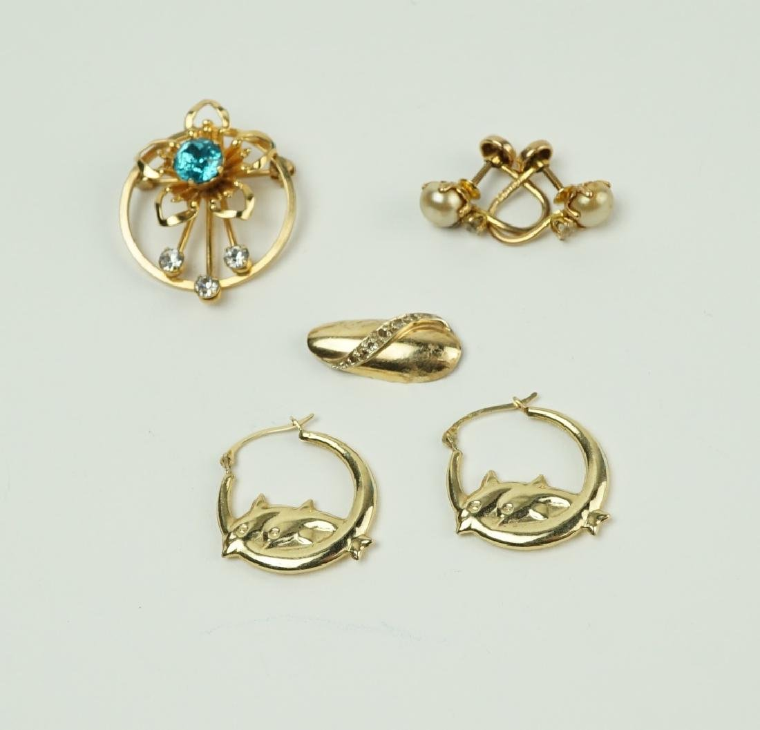 4pcs ASSORTED GOLD JEWELRY - 2