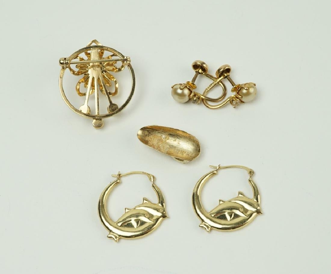4pcs ASSORTED GOLD JEWELRY - 3