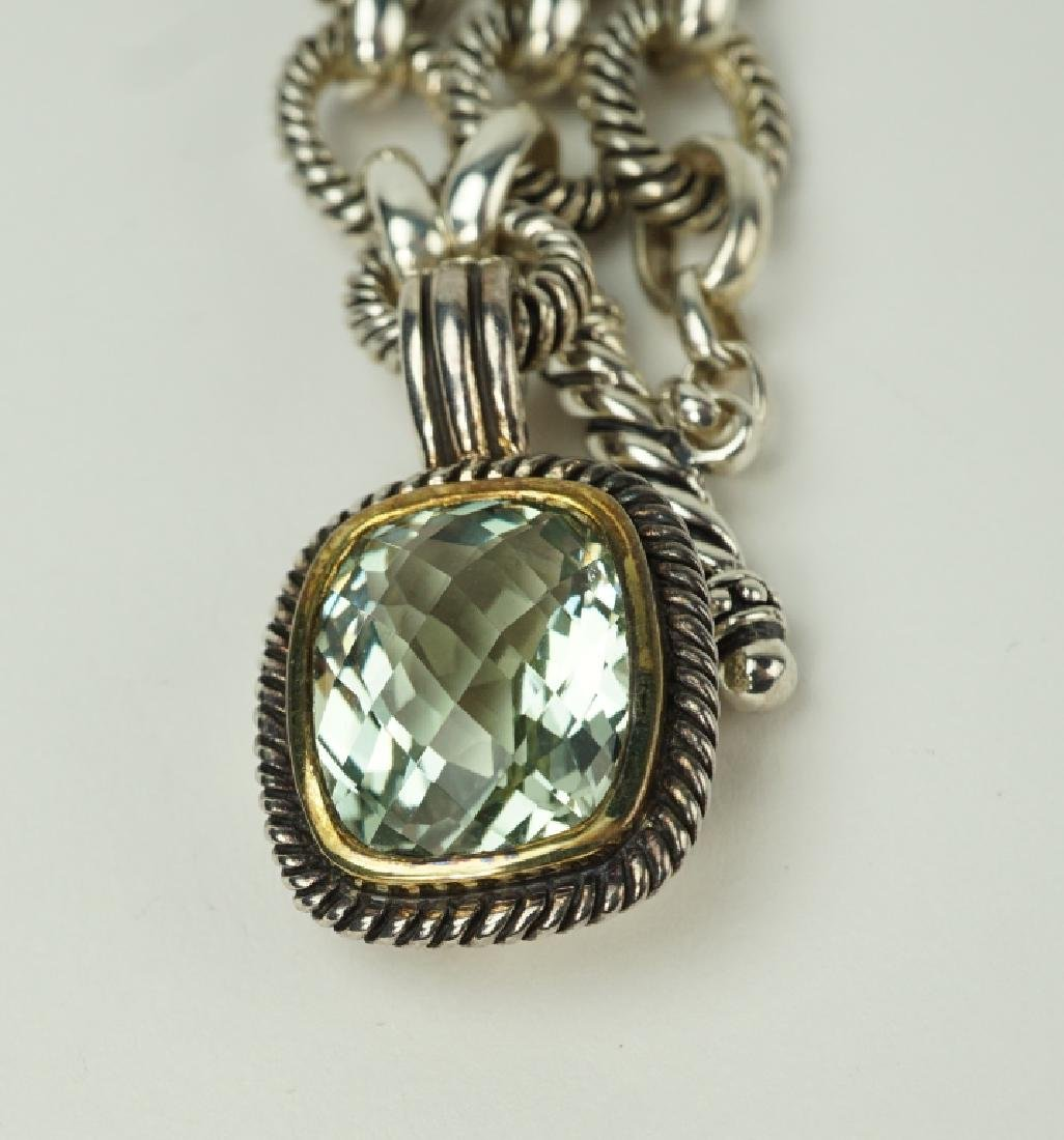 STERLING SILVER CITRINE LINK NECKLACE - 3