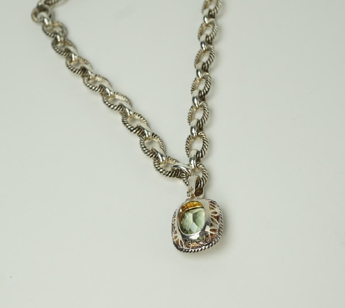 STERLING SILVER CITRINE LINK NECKLACE - 5