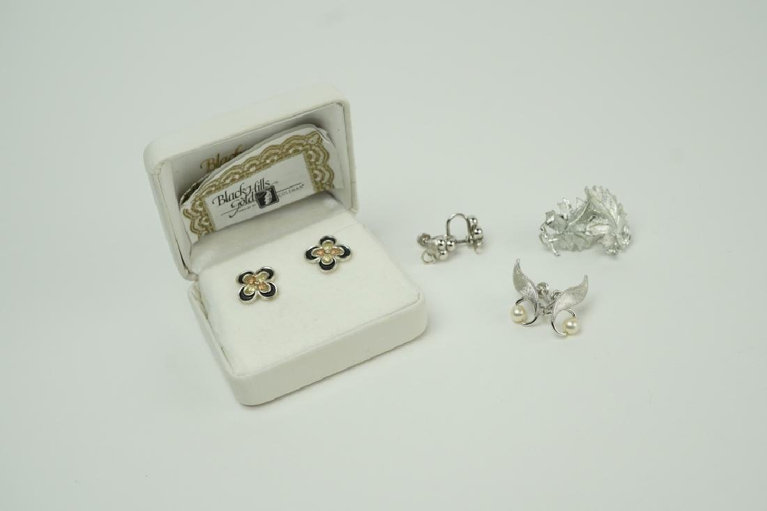 (4) PAIRS STERLING SILVER EARRINGS