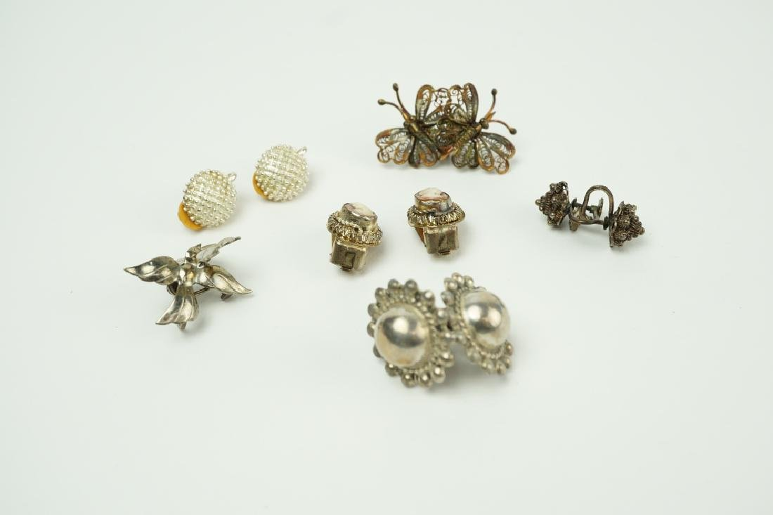 (6) PAIRS ASSORTED EARRINGS INCLUDING STERLING