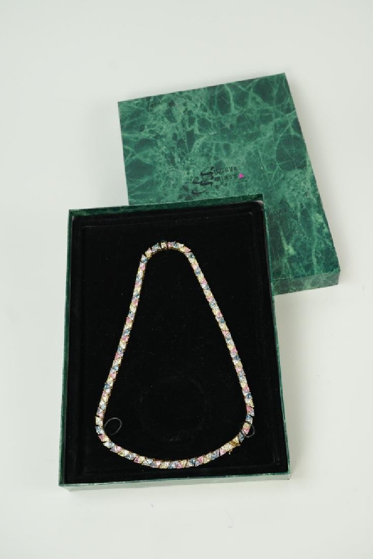 SUZANNE SOMERS STERLING SILVER TRILLIANT NECKLACE