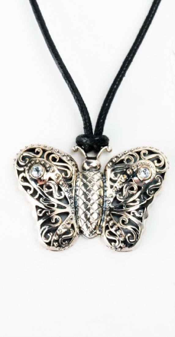 KC STUDIO STERLING BUTTERFLY PENDANT NECKLACE