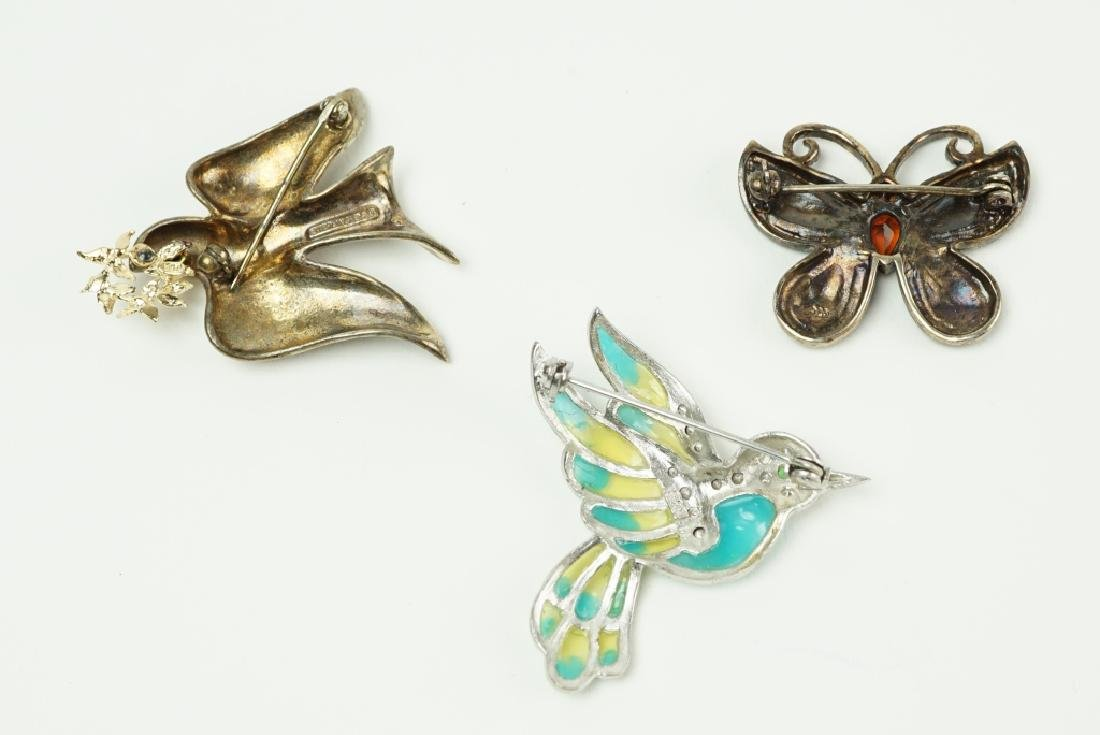 (3) STERLING SILVER PINS / BROOCHES - 2