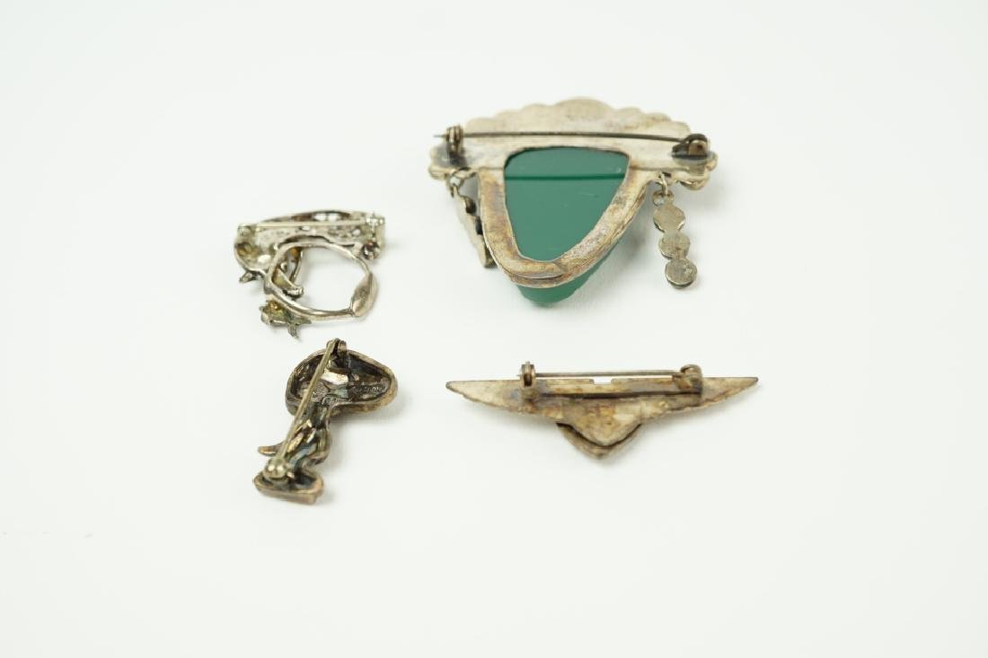 (4) STERLING SILVER PINS / BROOCHES - 2