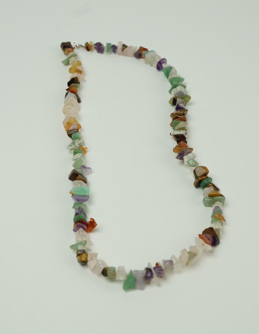 ROUGH CUT HARDSTONE BEADED NECKLACE