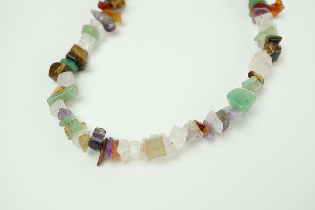 ROUGH CUT HARDSTONE BEADED NECKLACE - 3