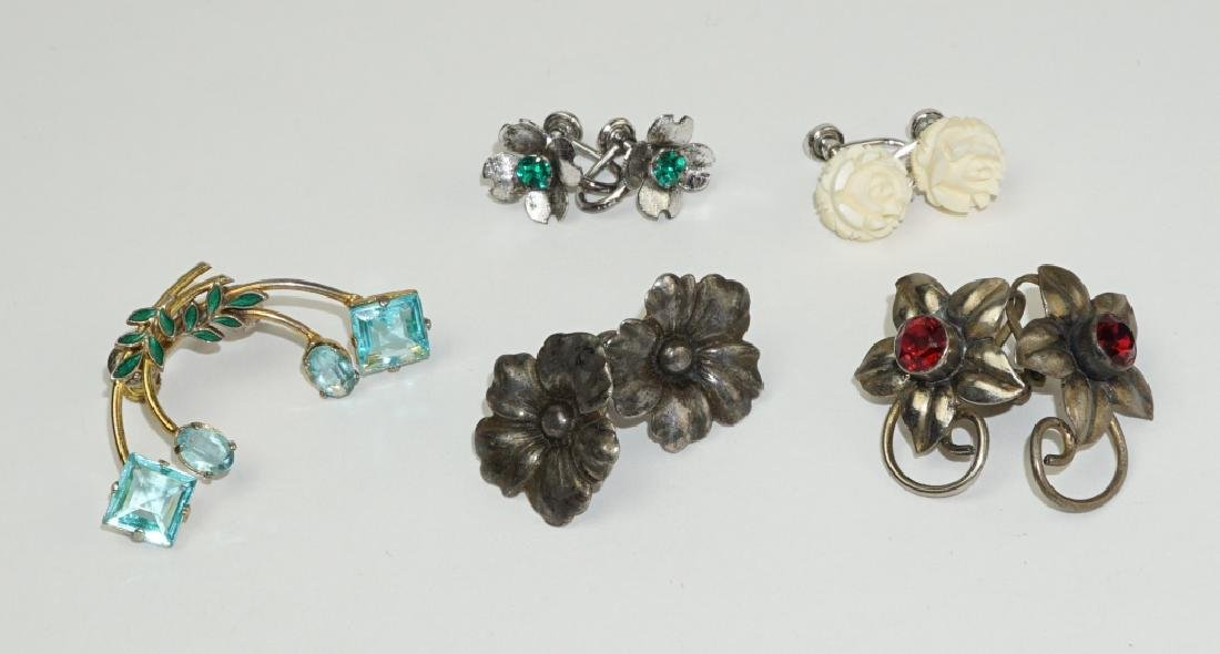 (5) PAIRS ASSORTED EARRINGS INCLUDING STERLING - 2
