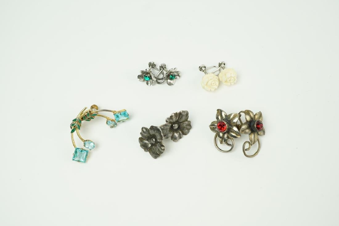 (5) PAIRS ASSORTED EARRINGS INCLUDING STERLING - 3