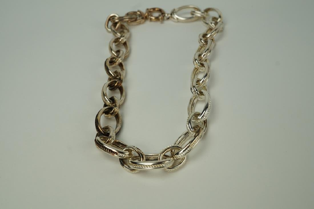 ARTE D' ARGENTO STERLING OVAL LINK NECKLACE
