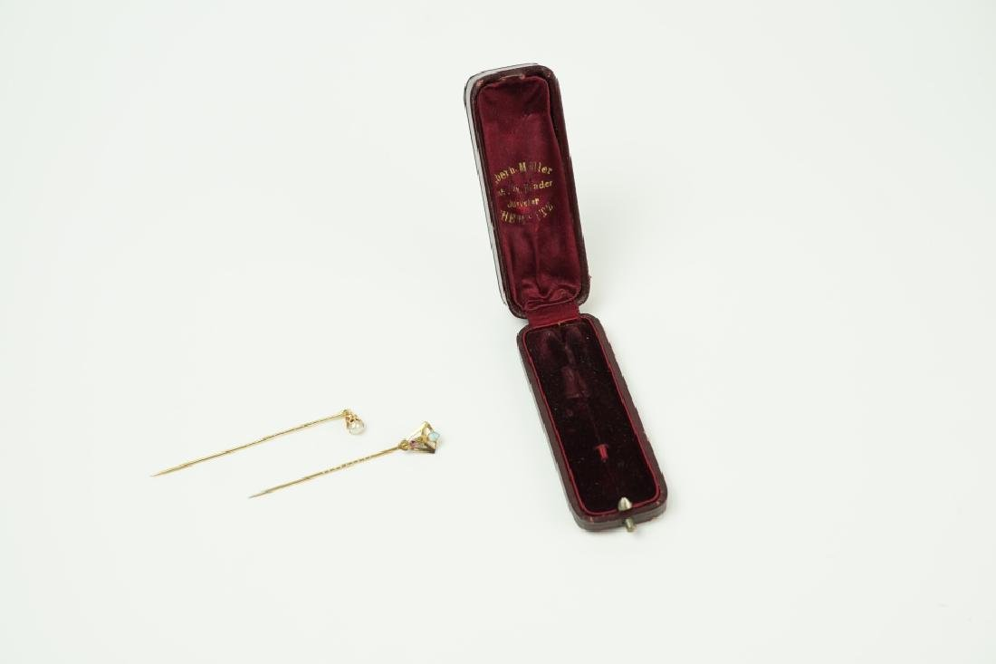 (2) GOLD FILLED STICK PINS