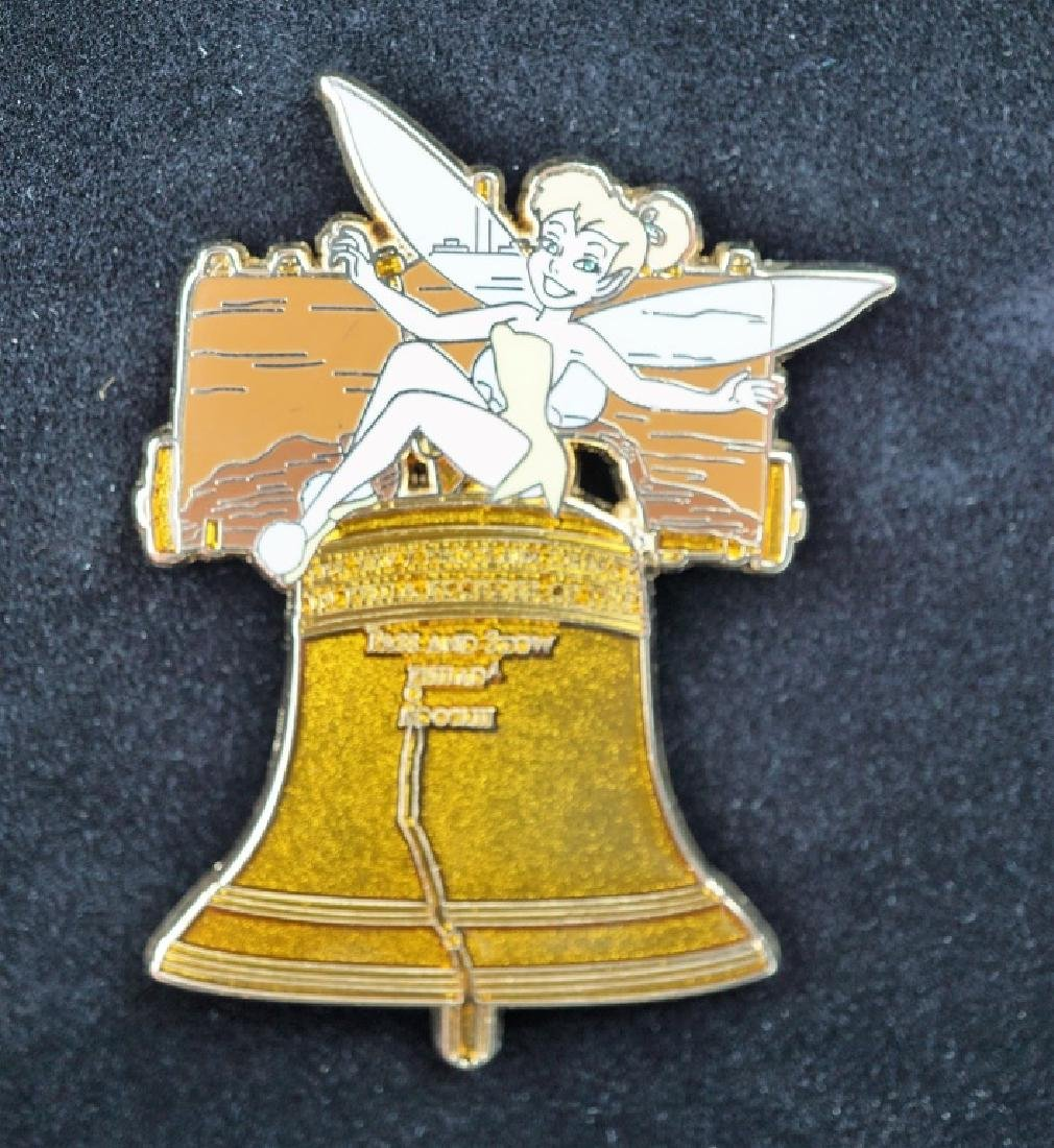 DISNEY TINKER BELL ON LIBERTY BELL PIN - 5