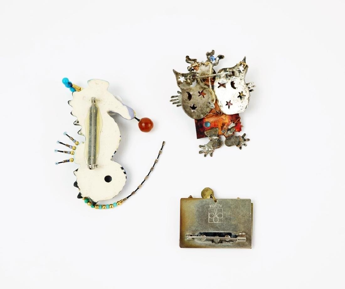 (3) ASSORTED HAND MADE BROOCHES - 3
