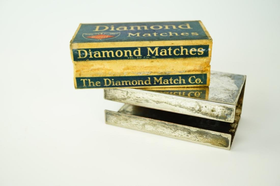 VINTAGE SILVER-PLATE MATCH-BOX HOLDER