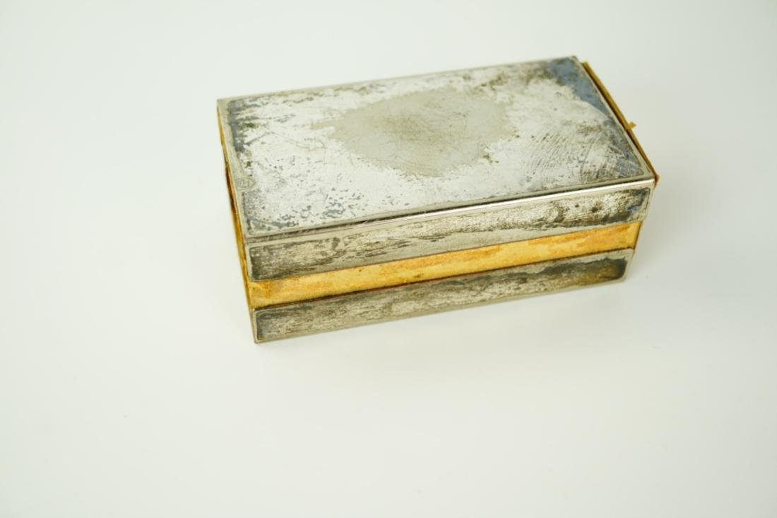 VINTAGE SILVER-PLATE MATCH-BOX HOLDER - 4