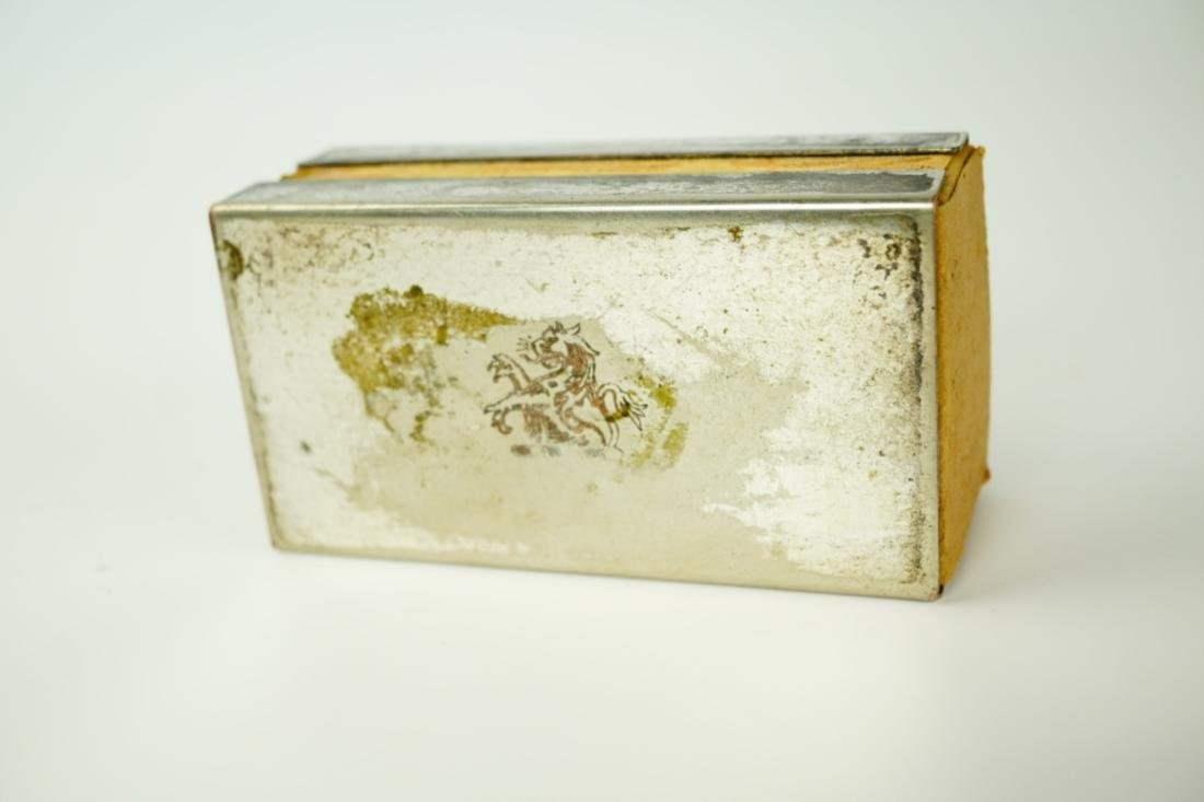 VINTAGE SILVER-PLATE MATCH-BOX HOLDER - 6