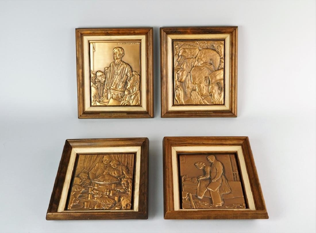 (4) NORMAN ROCKWELL FREEDOM PLAQUES