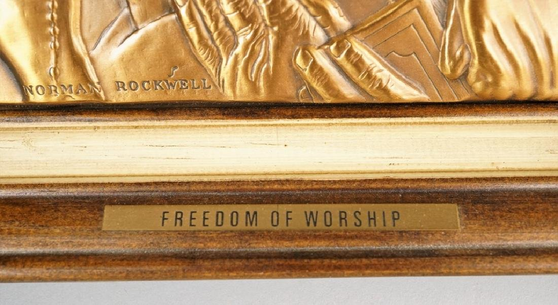 (4) NORMAN ROCKWELL FREEDOM PLAQUES - 3