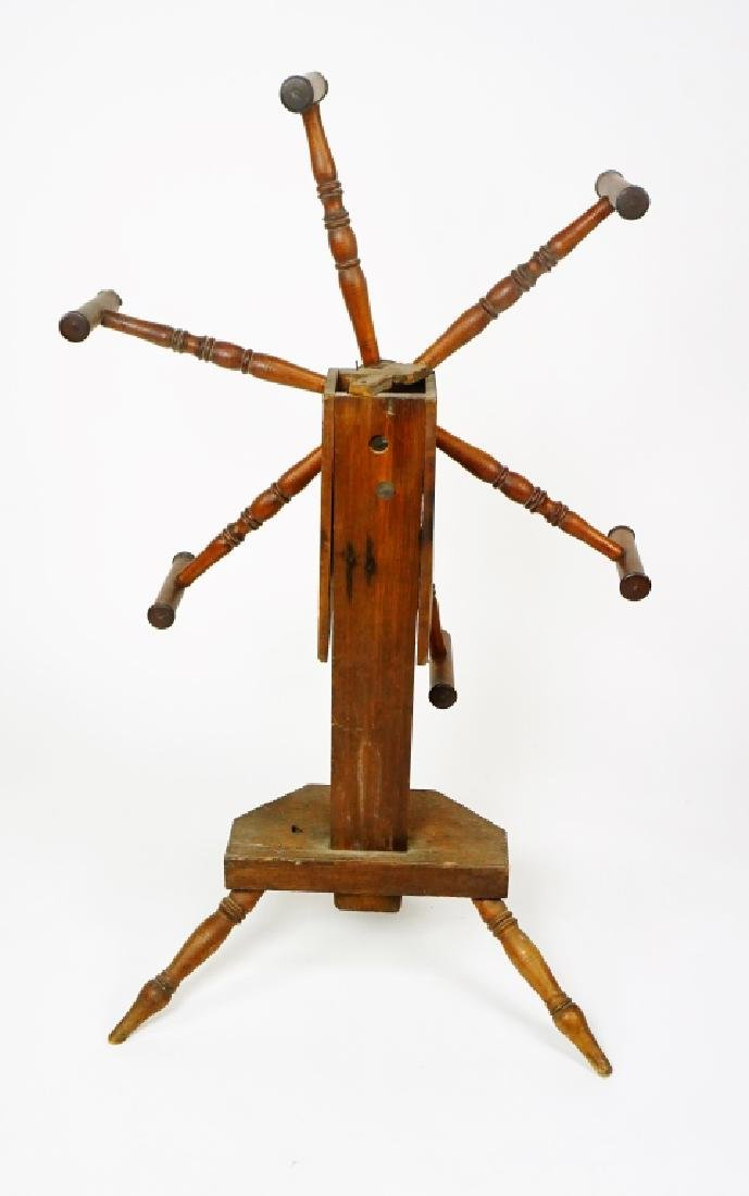 ANTIQUE MIXED WOOD YARN WINDER - 5
