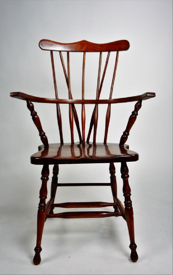 (3) WINDSOR STYLE CHAIRS - 10