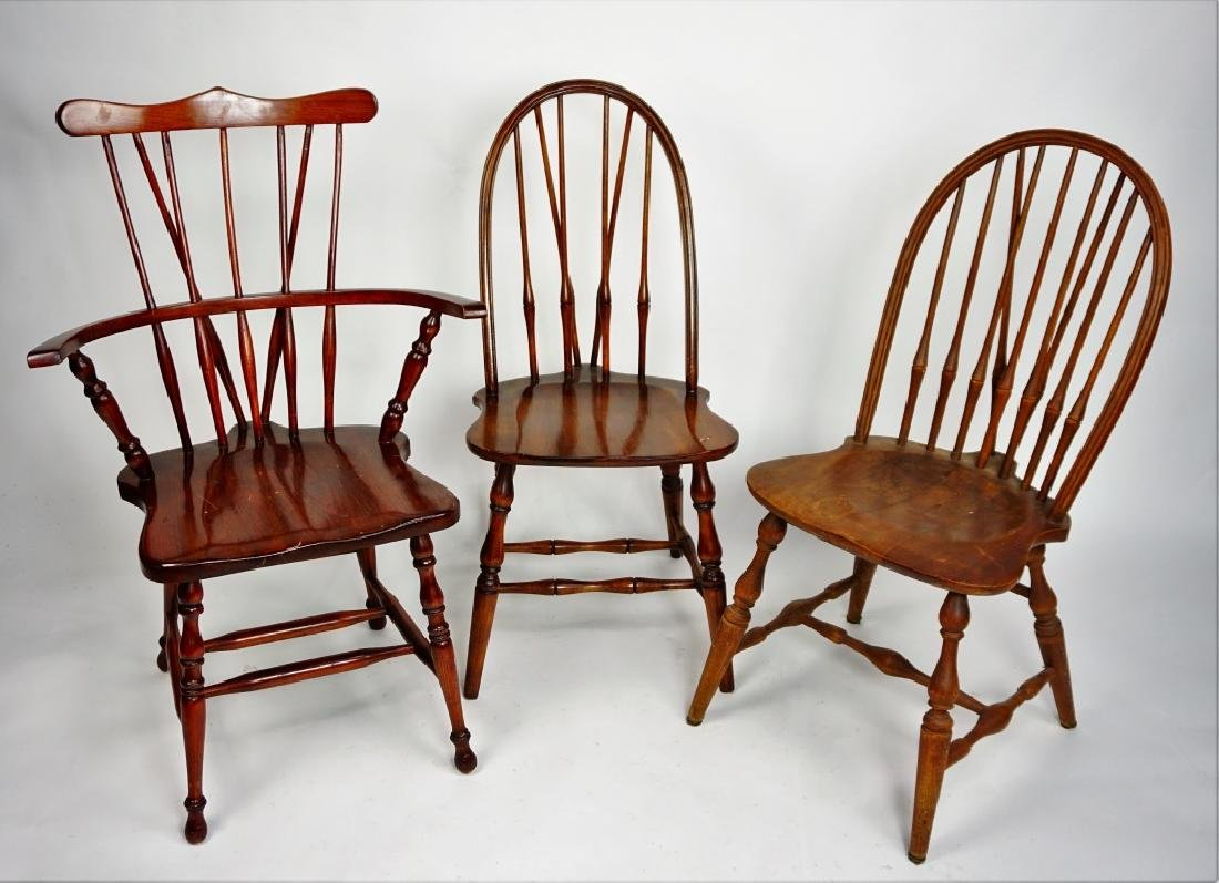 (3) WINDSOR STYLE CHAIRS