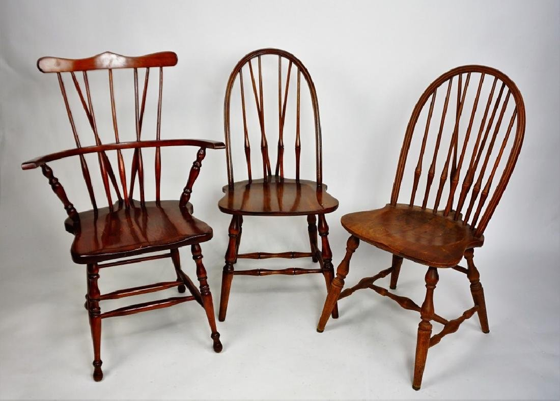 (3) WINDSOR STYLE CHAIRS - 2