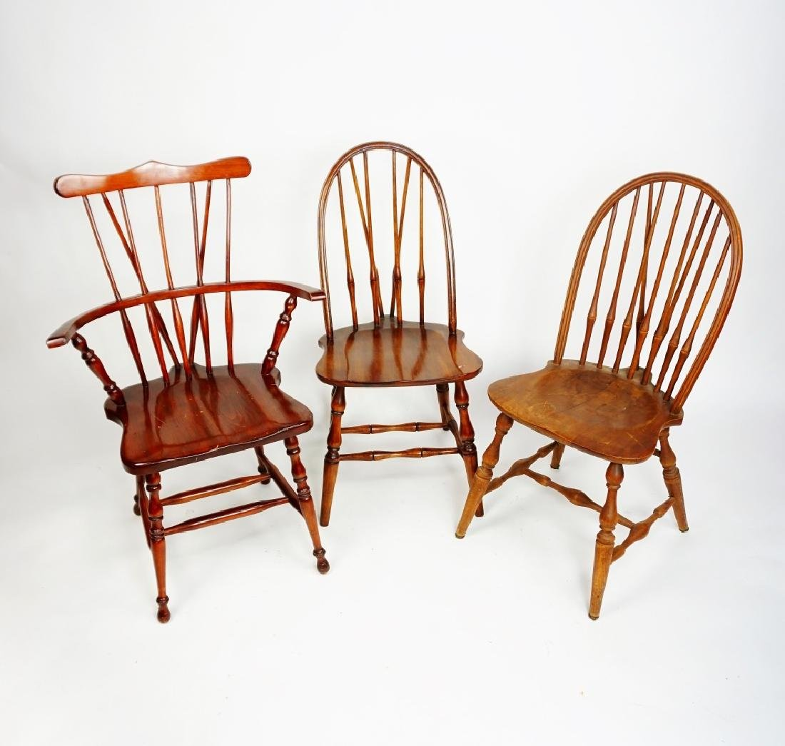 (3) WINDSOR STYLE CHAIRS - 3