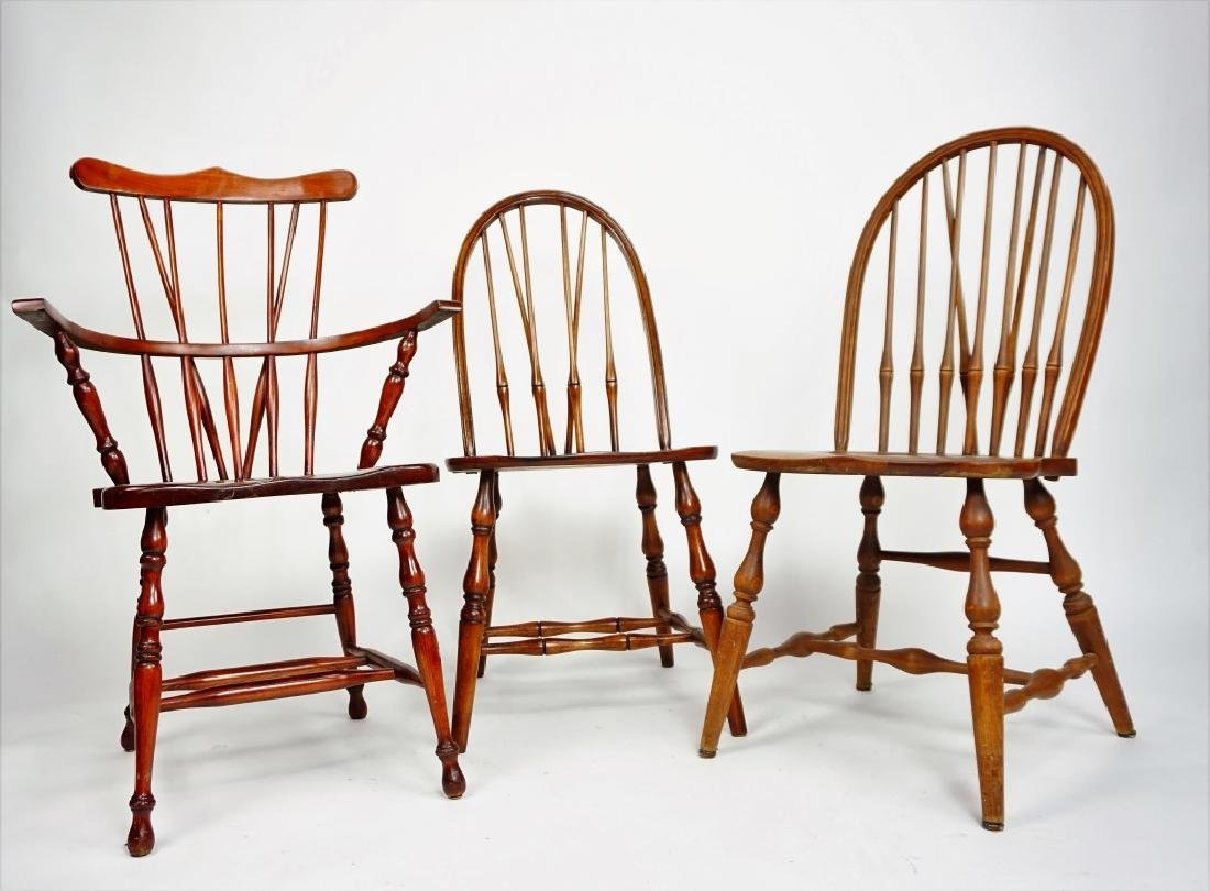 (3) WINDSOR STYLE CHAIRS - 4