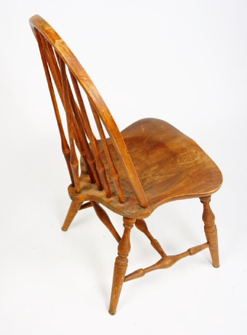 (3) WINDSOR STYLE CHAIRS - 8