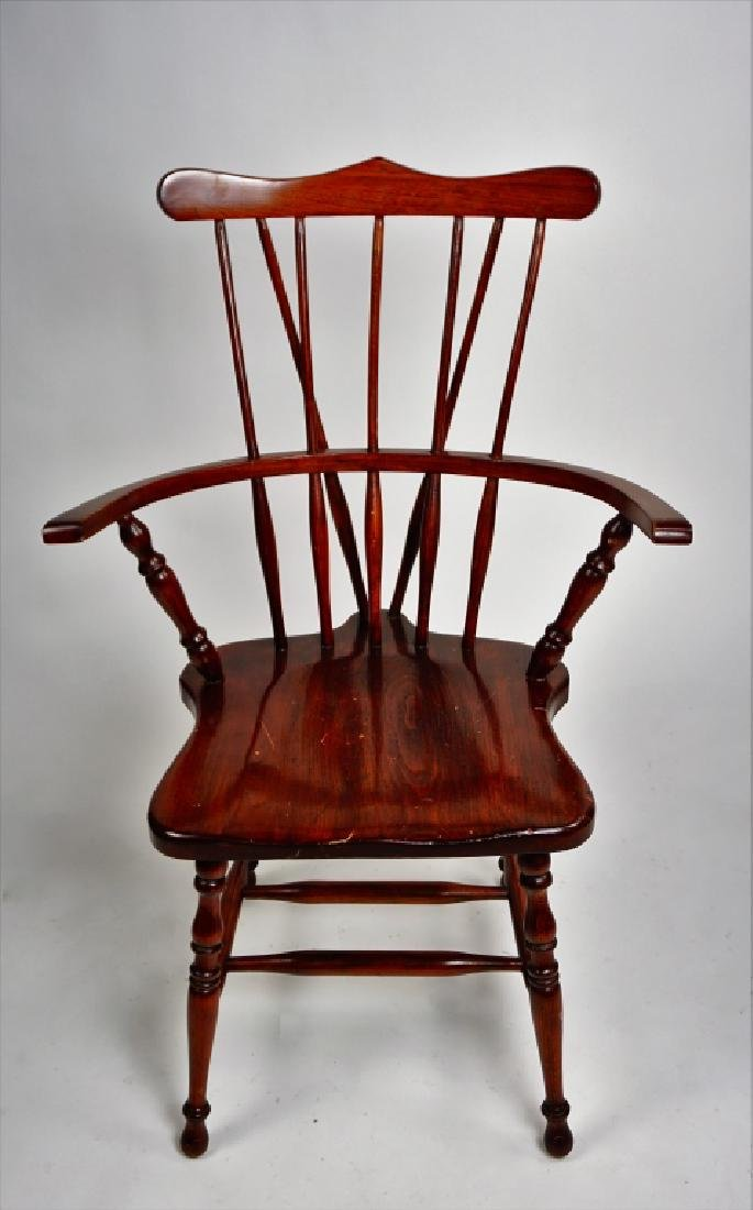 (3) WINDSOR STYLE CHAIRS - 9