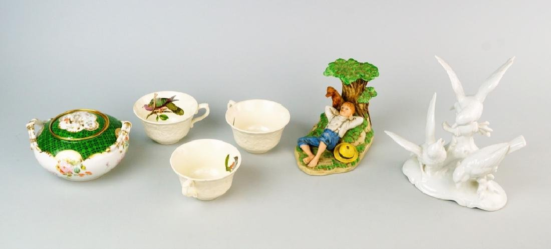 6pcs ASSORTED PORCELAIN
