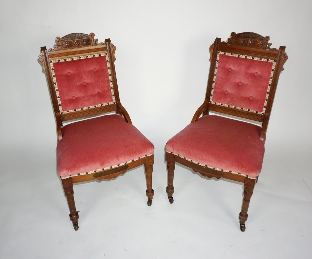 PAIR OF ANTIQUE VICTORIAN SIDE CHAIRS