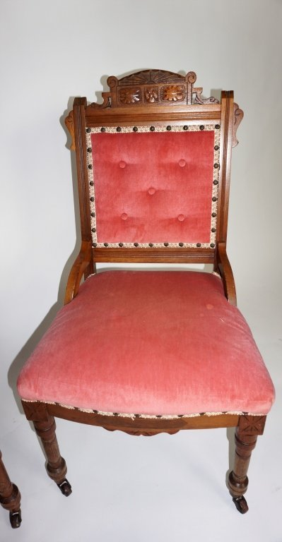 PAIR OF ANTIQUE VICTORIAN SIDE CHAIRS - 2