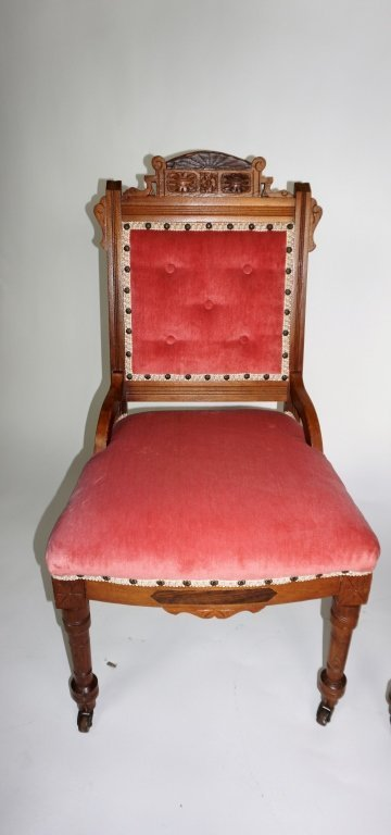 PAIR OF ANTIQUE VICTORIAN SIDE CHAIRS - 3
