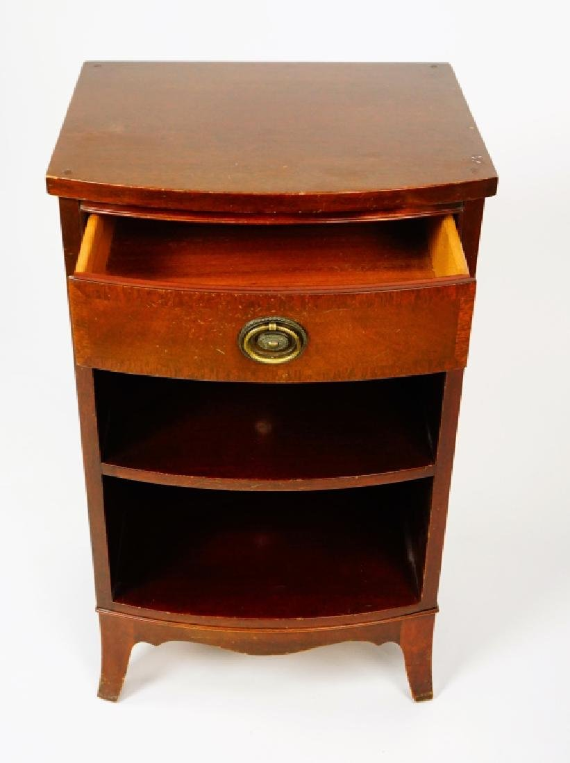 MAHOGANY ONE DRAWER NIGHT STAND - 2
