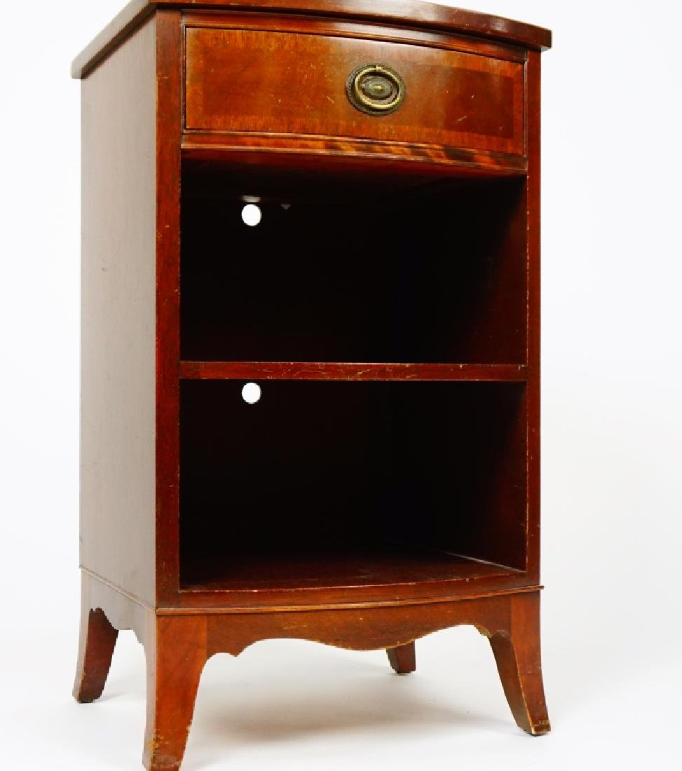 MAHOGANY ONE DRAWER NIGHT STAND - 4