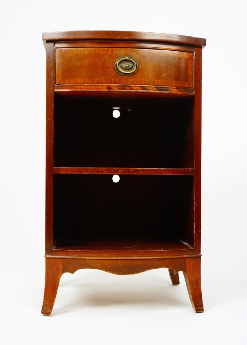 MAHOGANY ONE DRAWER NIGHT STAND - 5